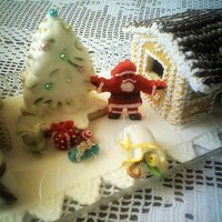 Winter Fairy Tale *Holiday and Christmas tree made of honey and covered with royal icing.