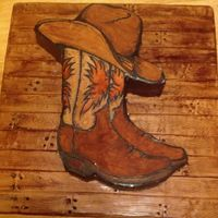 Cowboy Boot Grooms Cake Made For Animal Planet Show Called Mud Lovin Rednecks Cowboy Boot grooms cake made for Animal Planet show called Mud Lovin rednecks :)
