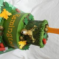 Camo 1St Birthday This was for a child's first birthday. Everything on cake is edible except deer head. All buttercream with fondant accents. Thanks for...