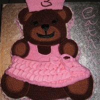 Dancing Princess Bear Teddy bear Princess ballerina cake