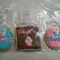 Thank You Cookies Inspired by cookies made by Tracy Hicks. Vanilla Sugar cookies with Orange RI. TFL!!!!