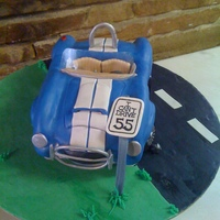 "Shelby Cobra Birthday Cake Shelby Cobra cake for man whose wife wanted ""I can't drive 55"" on the cake. My daughter came up with the suggestion of the..."