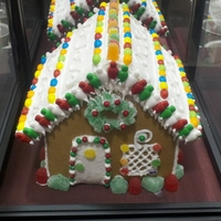 Gingerbread House My a Wilton Instructor at Michaels and we had a demo last saturday and this is what I did for the demo it was my first time doing a...