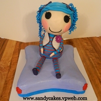 Lalaloopsy Cake My friend wanted a lalaloopsy cake wasn't sure what a lalaloopsy was so I look on here and find a lot of ideas I want to thank all the...