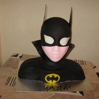 Batman   Batman cake with fondant decorations. All decorations are edible.