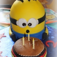 Minion Cake For My Grandsons 3Rd Birthday Minion cake for my grandson's 3rd birthday.