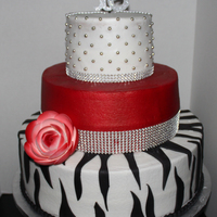 Sweet 16 Birthday Cake All buttercream with fondant accents