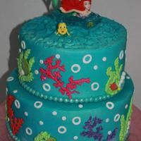 Mermaid Cake For My Granddaughters 3Rd Birthday Buttercream With Fondant Accents Mermaid cake for my granddaughter's 3rd birthday. Buttercream with fondant accents