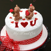 Valentine's Day Cake Inspired by Yocuna design.