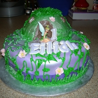 Tinkerbell First Birthday Cake   Top cake is the smash cake.