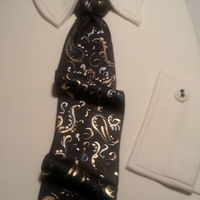 Dress Shirt With Handpainted Tie Dress shirt with handpainted tie
