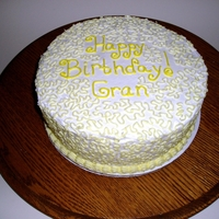 Cornelli Lace Cake Lemon Cake with Lemon Buttercream