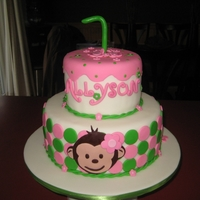 Mod Monkey Cake Mod Monkey cake made to look like the party supplies