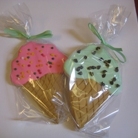 Ice Cream Cookies Ice Cream Shape Cookies