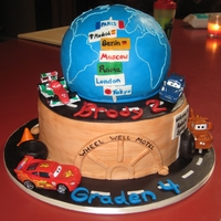 Disney Cars Disney Cars cake for birthday party