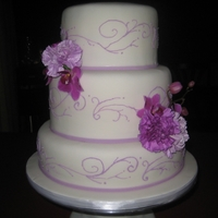 Bridal Shower Bridal Shower Cake with Purple