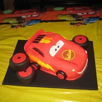 Cars Lightning McQueen! He was tougher than I thought