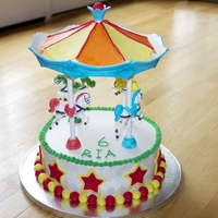 Carousel Cake Here is my take on the carousel cake! I really enjoyed making it!