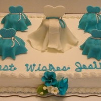 Bridal Shower Sheet Cake with buttercream
