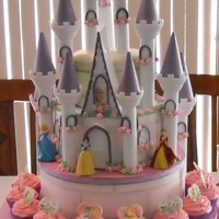 Princess Castle Cake Strawberry cake and cupcakes
