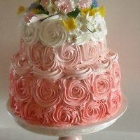 Buttercream, Pink Ombre 2 Tier