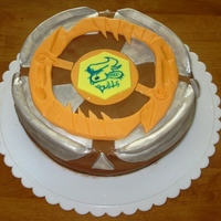 Beyblade Cake This was for our friend's 7th birthday