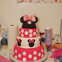 Minnie Mouse Birthday My daughter's 10th birthday cake.