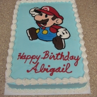 Mario Cake French Vanilla cake with BC icing