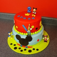 Mickey Mouse Club Cake French Vanilla cake with fondant and figurines provided by customer