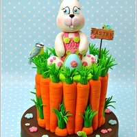 Easter Bunny And Carrots Cake I make this Easter cake and tutorial for the italian magazine Cake Design, speciale Pasqua. Bunnies are my favorite animals for Eater so I...