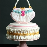 "Shabby Chic Purse Cake Published in Italy with tutorial in ""Cucina Chic Cake Design"" Special Fashion issue (october 2012)"