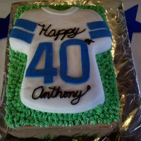 40Th Birthday Cake First time working with fondant/rolled buttercream and it came out better than I thought. Bottom cake was chocolate nutella cake with...