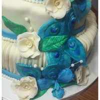 Peacock Themed Wedding Cake Peacock Themed Wedding Cake