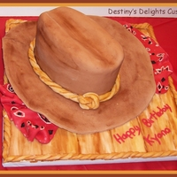 Cowboy Hat I made this cake for my sisters birthday.