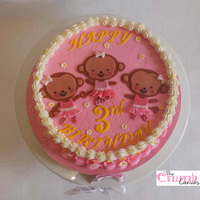 Heavens 3Rd Birthday Cake Monkeys in tutus! There's nothing cuter!