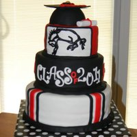High School Graduation Cake This was a fun cake to make because it was for a boy graduating from my alma mater! the bottom tier is vanilla, the middle tier is...