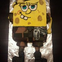 Ryan's B-Day And Father's Day This cake was made for my Son-in-law who leaves for boot camp in Sept. He loves Spongebob. Cake is lemon with raspberry filling. Camo is...