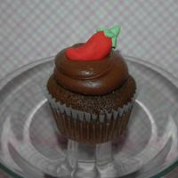 Chocolate Surprise Cupcake Scratch choc cupcake with cayenne pepper. Yummy cupcake, Chile on top made of fondant. TFL