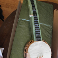 Banjo Made of BC, MMF and Gumpaste with fishing line strings.