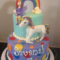 Rainbow Unicorn Fairy Birthday