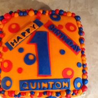 1St Birthday All Fondant This is a yellow cake with buttercream icing. Took it to the daycare to celebrate. I loved how the colors turned out. My son and the kids...