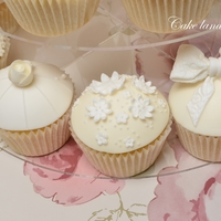 White And Ivory Wedding Cupcakes