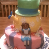 Alice In Wonderland Three tier Alice in Wonderland