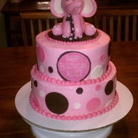 1St Birthday Elephant Cake Two tier 1st birthday elephant cake