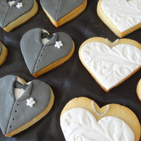 Bride And Groom Cookies All Fondant Decorations Bride and groom cookies. All fondant decorations.