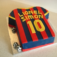 Fc Barcelona Cake Cake for a tenth birthday. The birthday boy is a huge fan of FC Barcelona and Lionel Messi, which is perfect as Messi plays in number ten....
