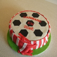 Soccer Cake This cake was just for fun to bring to work after Denmark won their first match in their group in the recent European football championship...