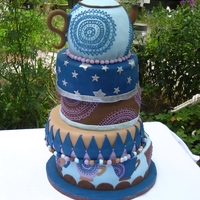 Quirky Wedding Cake My colleague wanted a quirky, fun and different wedding cake, and I must say she got it!The only reason she wanted a teapot on top and...