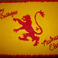 16Th Century English Flag Black and white cake with b/c. Free handed the lion. TFL