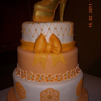 Sugarveil Wedding Cake This is a Sugarveil Icing decorated cake ideal for bridal showers, birthdays, etc. The upper part of the shoes was made from a standard...